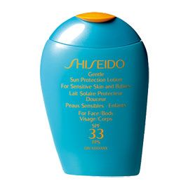 Shiseido  Gentle Sun Protection Lotion for Sensitive skin and Babies