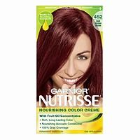hair color garnier nutrisse nourishing color creme in 452 chocolate