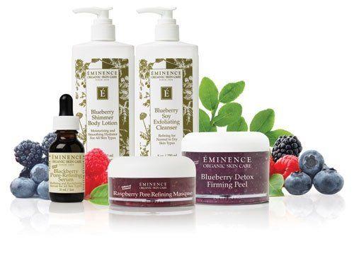 Eminence Organic Skin Care Organic Berry Pore Refining Line