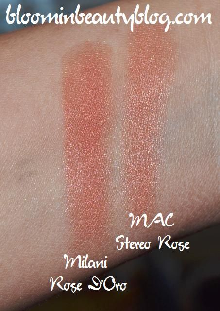 Color combination gray and blue - Milani Baked Blush Rose D Oro 02 Reviews Photos