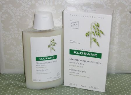 Klorane gentle shampoo with oat milk ( frequent use)