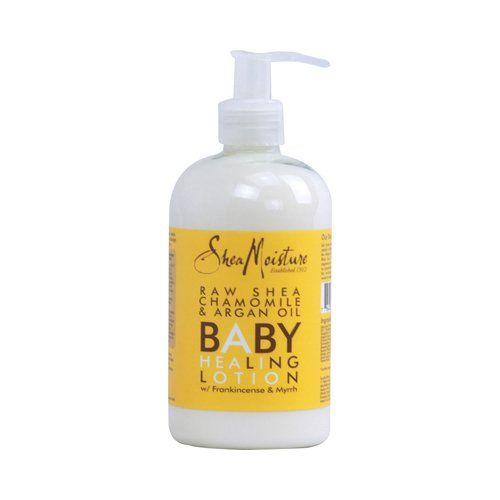 Shea Moisture Organic Raw Shea Chamomile & Argan Oil Baby Healing Lotion w/Frankincense & Myrrh