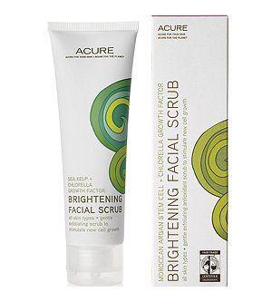 Acure Organics Brightening Facial scrub sea kelp+chlorella growth factor