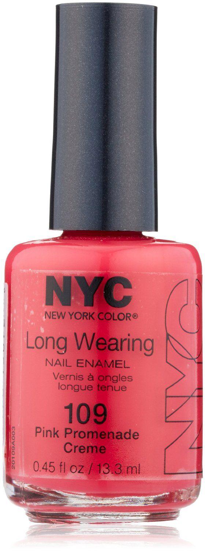 New York Color Long Wearing Nail Enamel - Pink Promenade Creme 109