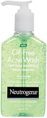 Neutrogena Oil-Free Redness Soothing Facial Wash gel