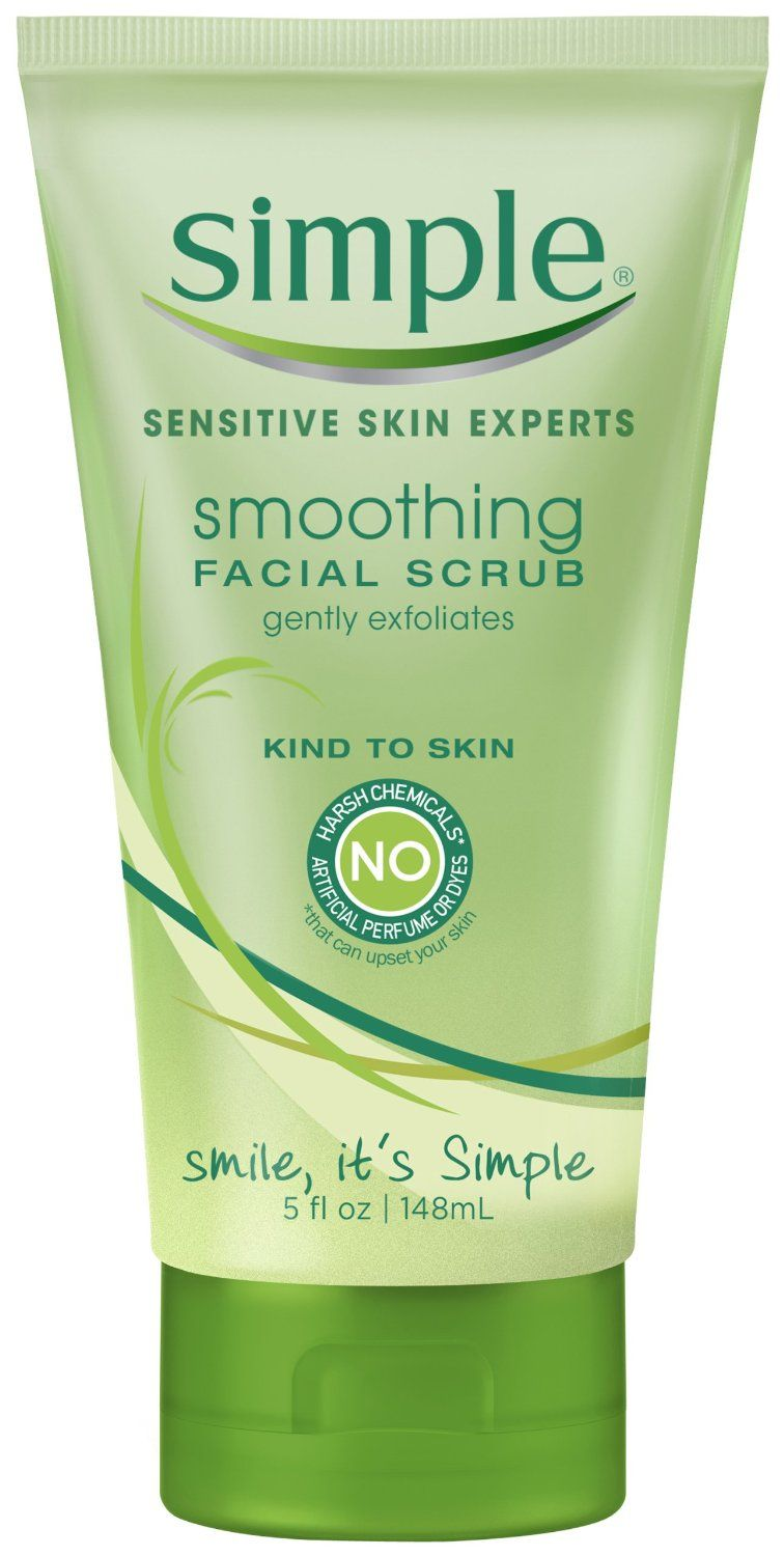 Simple smoothing cleansing scrub