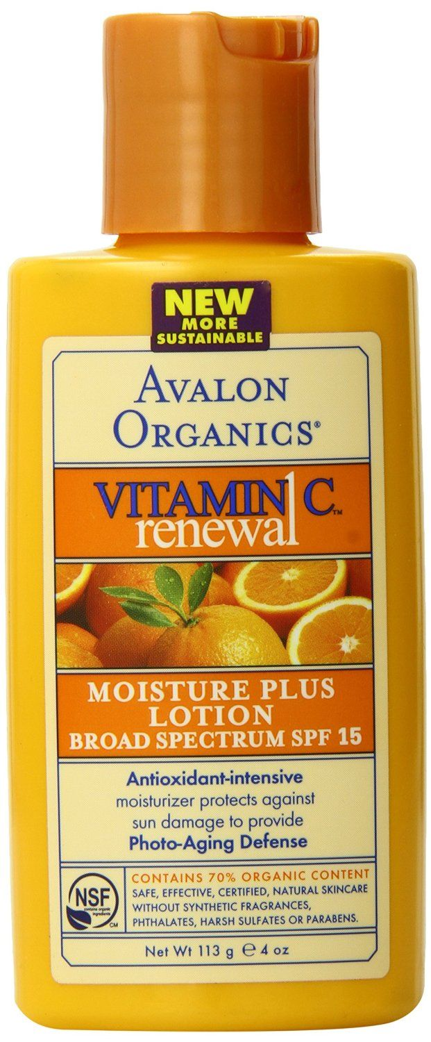 Avalon Organics Botanicals Vitamin C Moisture Plus Lotion w/ SPF 15