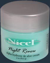 Nicel Night Renew Alpha Hydroxy and Aloe Cream
