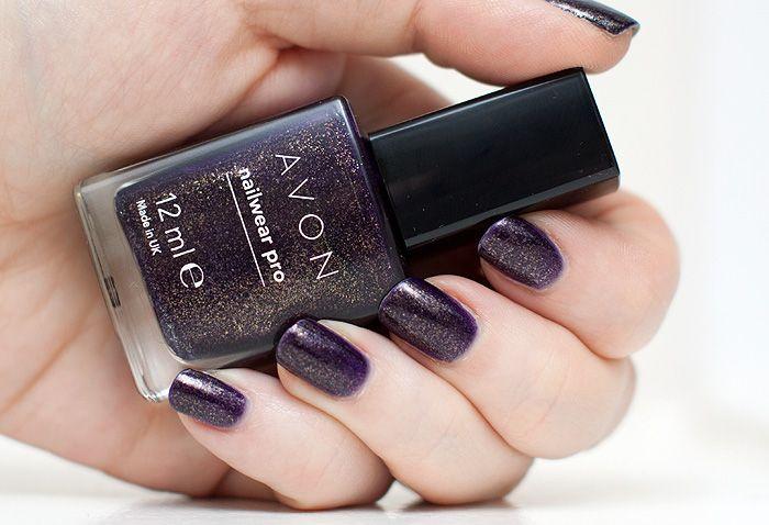 Avon NailWear Pro Violetta Sparkle