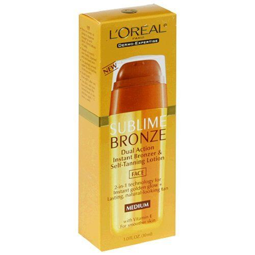 L'Oreal Sublime Bronze Dual Action Bronzer and Self-tanning lotion for face