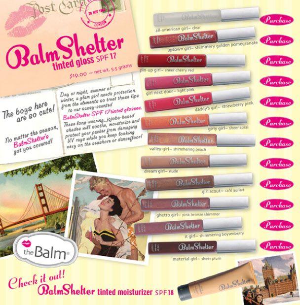 TheBalm BalmShelter SPF 17 LipGloss - All American Girl