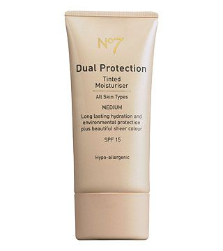 Boots  No. 7 Dual Protection tinted moisturiser SPF15 MEDIUM