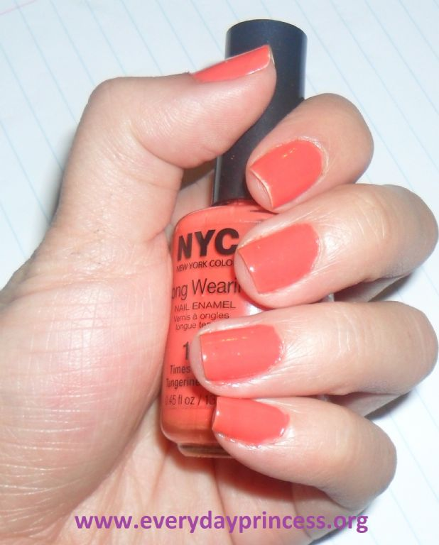 New York Color Long Wearing Nail Enamel - Times Sq Tangerine 112