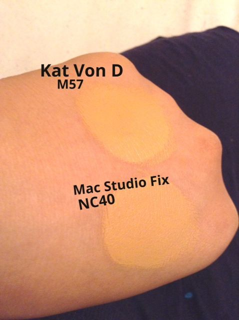 Kat Von D Lock It Tattoo Foundation Swatches