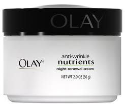 Olay Anti-wrinkle Nutrients night renewal cream