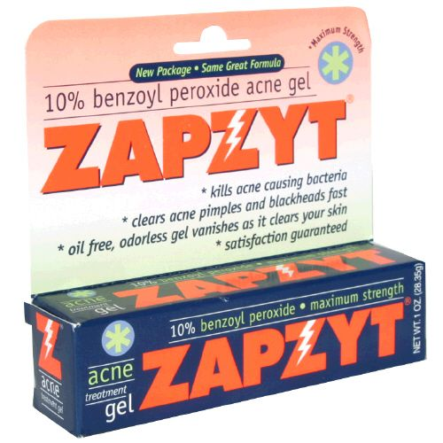 Zapzyt 10% Benzoyl Peroxide Acne Treatment Gel