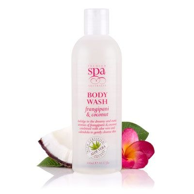 Premium spa (with organics australia) frangipani and coconut