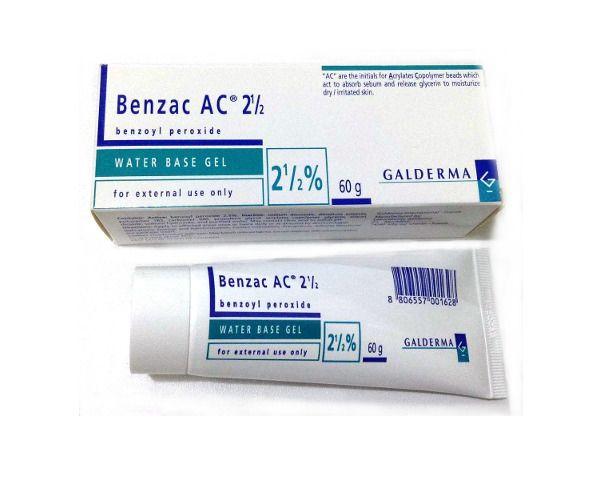 Galderma - Benzac AC 2.5 (benzoyl peroxide water-based gel 2.5%)