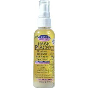 Hask  Placenta - No-Rinse Instant Hair Repair Treatment Super Strength
