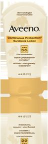Aveeno Aveeno Continuous Protection Sunblock Lotion SPF 55 (active photobarrier complex)