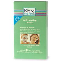 Biore Self Heating One Minute Mask with Natural Charcoal