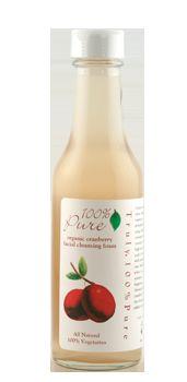 100 Percent Pure Cranberry Cleansing Bubbles