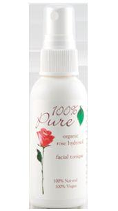 100 Percent Pure Organic Rose Hydrosol