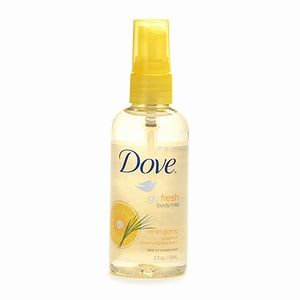 Dove Go Fresh Body Mist -- Energizing Grapefruit & Lemongrass Scent