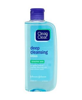 Clean & Clear Sensitive Skin Deep Cleansing Lotion