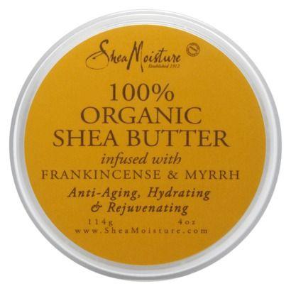 Shea Moisture 100% Organic Shea Butter with Frankincense & Myrrh