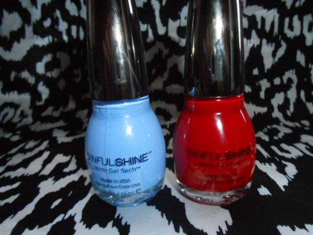 SinfulColors Shine nail polish with gel tech