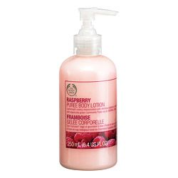 The Body Shop raspberry puree body lotion