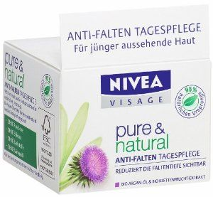 Nivea Pure and Natural anti-wrinkle day cream
