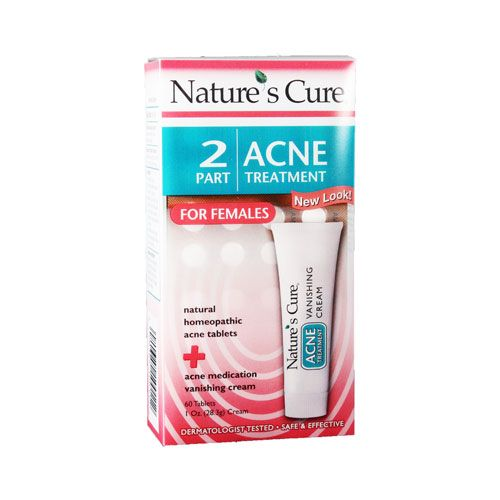 Nature's Cure - two part acne treatment system for females