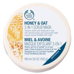 The Body Shop Honey & Oat Scrub Mask