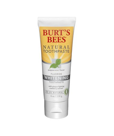 Burt's Bees Natural Flouride Whitening Toothpaste in Peppermint