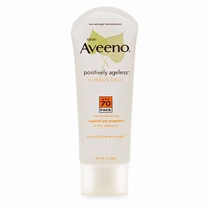 Aveeno Positively Ageless Sunblock Lotion for Face SPF 70