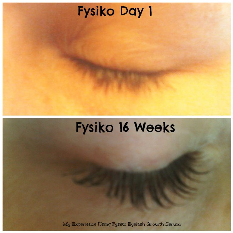 Fysiko Eyelash Growth Serum/Before and After Photo ...