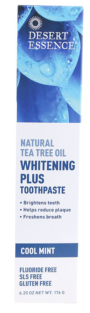 Desert Essence Natural Whitening Tea Tree Oil Toothpaste in Cool Mint