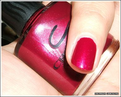 Creative Nail Design Crimson Uprising