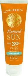 Aubrey Organics Natural Sun Unscented Sensitive Skin SPF 30+