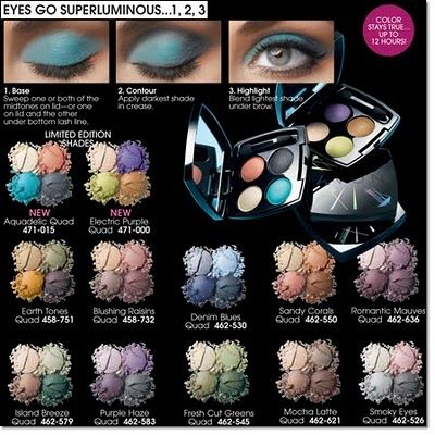 Avon True Color Eyeshadow Quad - ALL SHADES