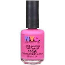New York Color Long Wearing Nail Enamel - Fuschia Shock Creme 111