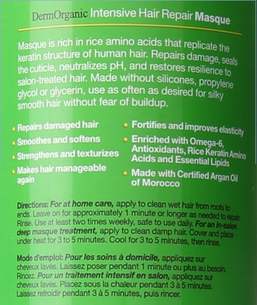DermOrganic Intensive Hair Repair Masque