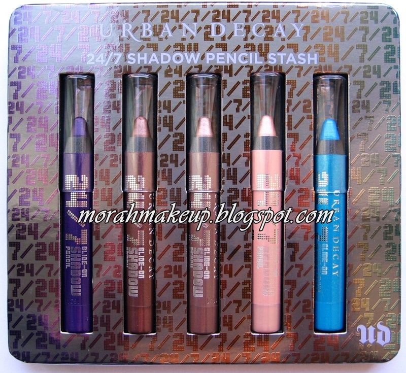 Urban Decay 24/7 Shadow Pencil Stash set-Delinquent/Rehab/Juju/Sin/Clash