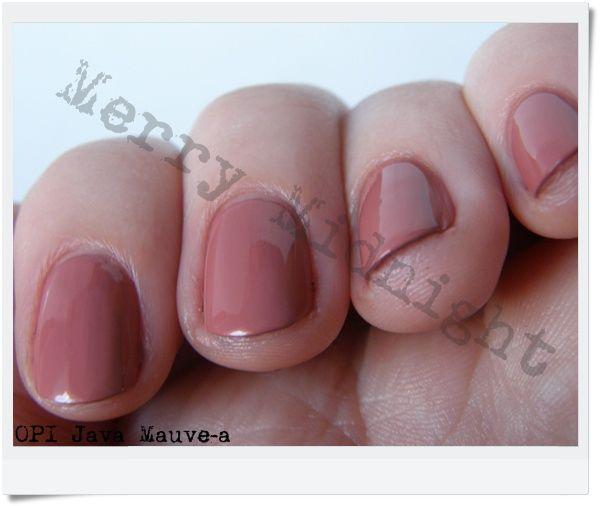 Opi Nail Polish Mauve Color: OPI Java Mauve-A Reviews, Photo