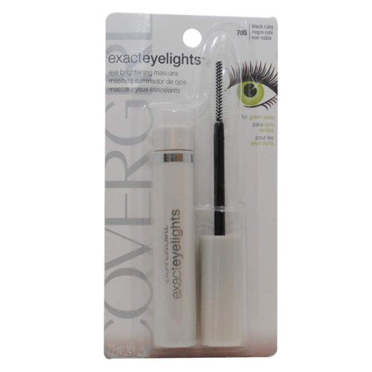 Cover Girl Exact Eyelights Mascara in Black Ruby for Green Eyes
