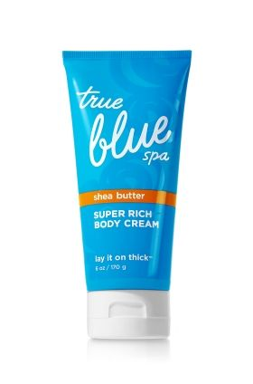Bath and body works true blue spa lay it on thick shea for True blue bathrooms