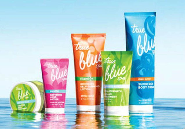 Bath and body works true blue spa products all reviews for Where are bath and body works products made