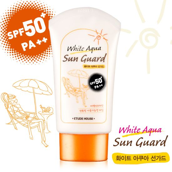Etude House White Aqua Sun Guard SPF 50+/PA ++